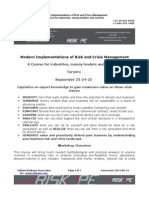 Modern Implementations of Risk and Crisis Management