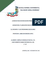 El Docente y Los Programas Escolares Ampe