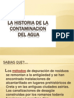 la historia de la contaminacion del agua