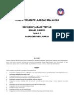 Dokumen Standard Prestasi b.inggeris Ld Tahun 1