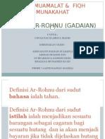 AR-ROHNU (GADAIAN) di dalam Fiqh Muamalat