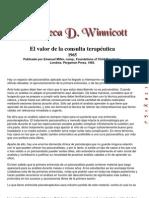 Winnicott.el Valor de La Consulta Terapeutica