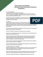 Estudio Juridico Doctrinario Rectificacion de Partida de Nacimiento