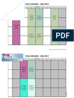 program time table pdf