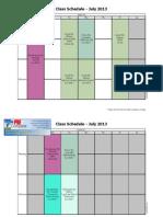 program time table pdf
