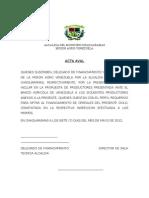 Acta Alcaldia Del Municipio Chaguaramas