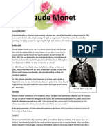 monet bio and bibliography real