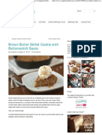Brown Butter Skillet Cookie With Butterscotch Sauce _ Completely Delicious