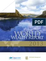 Capgemini World Wealth Report 2013