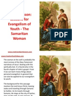 Object Lesson - Lessons for Evangelism of Youth - The Samaritan Woman