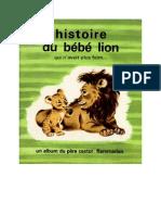 Père Castor Histoire du bébé lion 1963