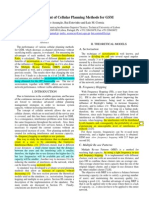 Assessment of Cellular Planning Methods for GSM
