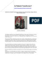 What is Flyback Transformer