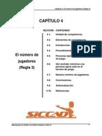 CAP. 4 EL NÚMERO DE JUGADORES regla 3