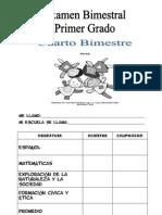 EXAMEN 1° GRADO CUARTO BIMESTRE DE LAURO