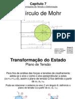Transformações de Tensão e Deformação - Circulo de Mohr