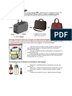 Cabin Baggage Requirement
