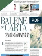 Perché la letteratura ha bisogno di Moby Dick - La Repubblica 27.06.2013
