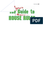 Player's Guide to Shadowrun House Rules (PW 0007)