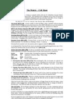 SR3 - Matrix Crib Sheet