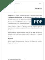 Midori Cloud-Base OS [ SEMINAR REPORT 3]