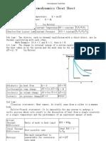 Thermodynamics Cheat Sheet