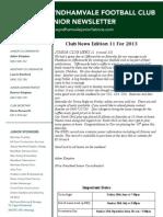 2013 Newsletters Week11