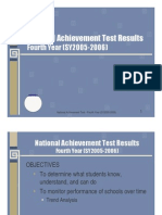 National Achievement Test-4th Year (05-06)