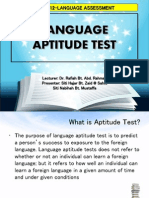 Language Aptitude Test