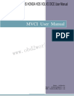 Mvci Toyota Tis Honda Hds Volvo Dice User Manual