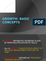 Growth- Basic Concepts