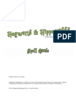 Spell List - Hogwarts and Hippogriffs (Beta Version 0.2.0)