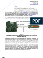 e-con Systems Launches 5MP Full HD MIPI Camera support for i.MX6 Processor