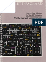 HP28S MATH APPS SOLUTION MANUAL