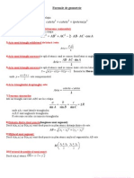 Formule Matematica Bacalaureat BAC - Geometrie