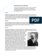 claude oscar monet biography and bibliography