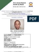 Susan Bell Mugshot