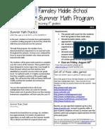 2013 Incoming 7th Grade Summer Math Packet