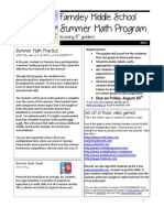 2013 Incoming 8th Grade Summer Math Packet