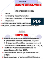 Lecture 3 Regression Analysis