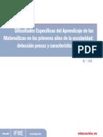 detección precoz y características evolutivas en matematicas