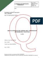 Reguli Generale de Certificare
