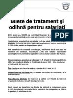 Anunt Bilete de Tratament Si Odihna Pt Salariati 3-05-2012