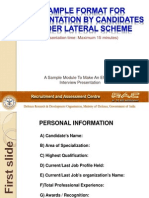 Lateral Presentation Format