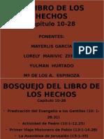 HECHOS DE LOS APOSTOLES EXPOSICIÓN 4 PERSONAS