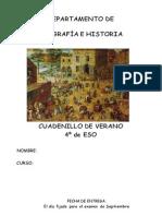 Cuadernillo Historia Verano 4o de ESO