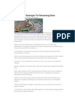 Tantangan Geologis Tol Semarang