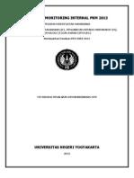 Panduan Monitoring Internal Pkm 20131
