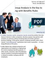 Controlled Group Analysis Is the Key to Complying with Benefits Rules