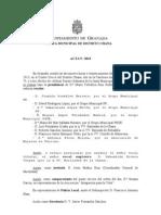 Acta Junta Municipal Distrito Chana Mayo 2013